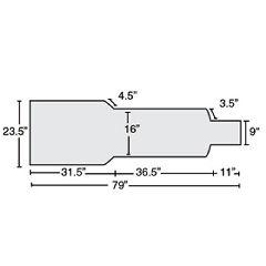 "AliMed Siemens CCL Cardiac Cath Tablepad, 1.5"" T-Foam"