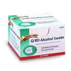 BD Alcohol Swabs - Sterile, Individually Wrapped.