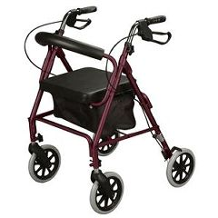 Cardinal Health Foldable Soft Seat Rollator With Brakes
