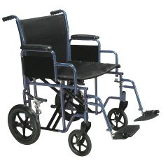 Drive Bariatric Heavy Duty Transport Wheelchair with Swing Away Footrest