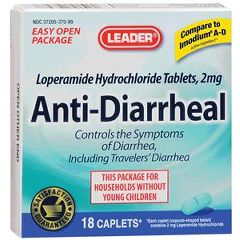 Cardinal Health Leader Anti-diarrheal Tablets 2 mg 18 Count