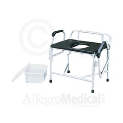 ConvaQuip Bariatric Steel Drop Arm Commode, 800 lb Capacity
