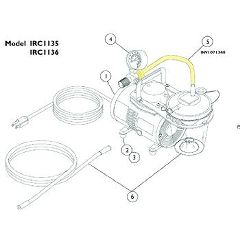Invacare Supply Group Suction Tubing and Filter Kit