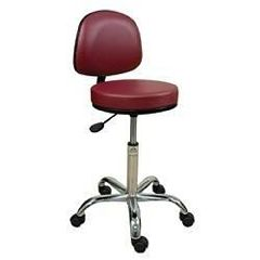 "Oakworks Professional Swivel Stool W/Back 18""-24""H"