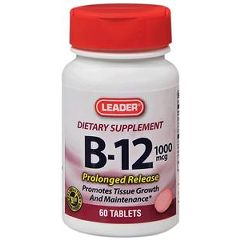 Cardinal Health Leader Vitamin B-12 Tablets 1000 mcg 60 Count