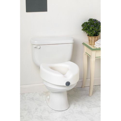 Medline Elevated Locking Toilet Seat