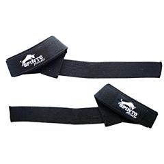 Spinto Padded Wrist Straps - Black Cotton