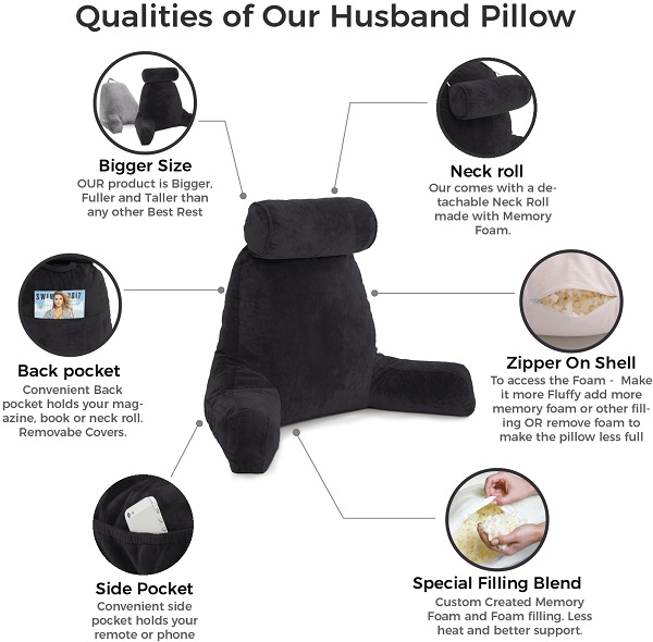 Comfort Deluxe Husband Pillow