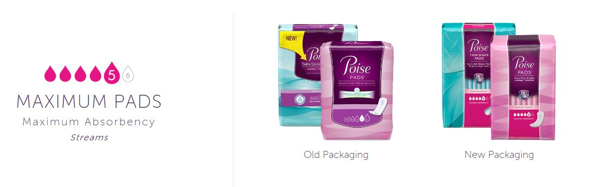 f16ad77b08be Poise® Original Pads with Maxiumum Absorbency for Light Bladder ...