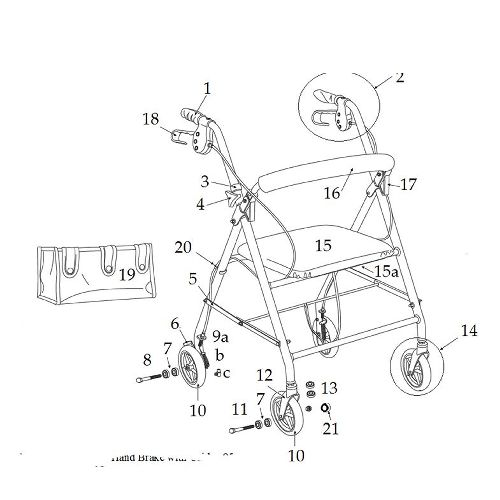 Replacement Parts for Drive Rollator