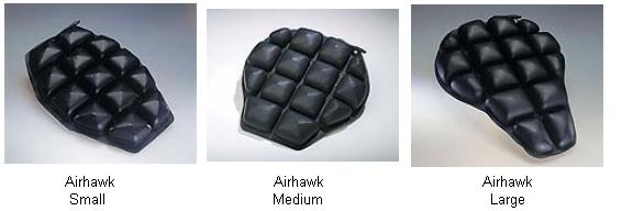 Roho Motorcycle Cushion Sizes