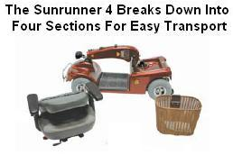 Shoprider Sunrunner 4 Scooter Disassembly