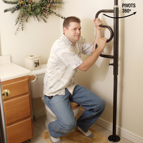Security Pole and Grab Bar from Stander Inc