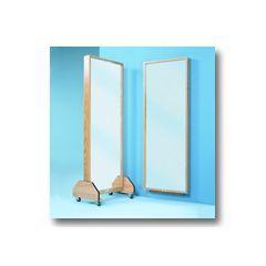 Plate Glass Mirror - Portable Triple Mirror - Each