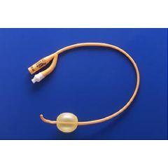 pureGOLD Coude  PTFE-Coated Latex Foley Catheter - 2-way, 5cc