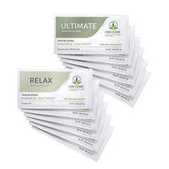 CBD CLINIC™ Massage Samples - 6 Ultimate & 6 Relax Samples - Each
