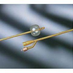 BARDIA Elastomer Silicone-Coated Latex Foley Catheter - 2-way, 30cc