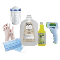 PPE Start Up Kit For Businesses - PPE Kit with Large Gloves
