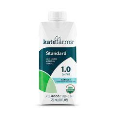 Kate Farms Standard 1.0 Vanilla Organic - 11oz Carton - Case of 12