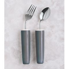 Comfort Grip Angled Cutlery -  Lightweight, soft, contoured