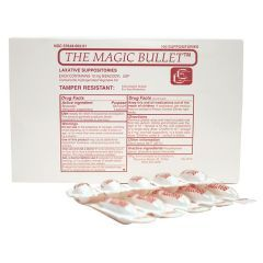 Magic Bullet Suppository - Laxative Suppositories - 10mg Bisacodyl Suppository