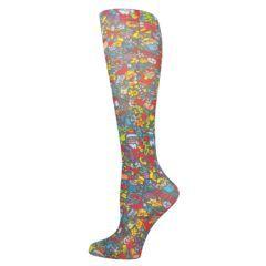 Christmas Celebration Fashion Line Compression Socks