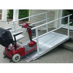 The Gateway™ Solid Surface Portable Ramp with Handrails