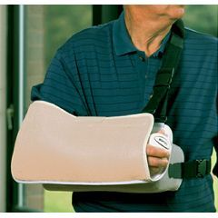 Shoulder Immobilizer with Contoured Arm Wedge and Body Strap