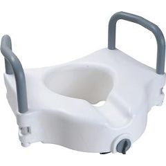 Raised Toilet Seat with Arms and Lock - 5