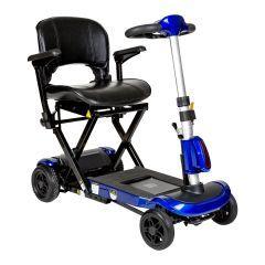 ZooMe Auto-Flex Folding Travel Scooter, Blue - ZooMe Auto-Flex Folding Travel Scooter, Blue