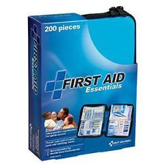 First Aid Only® All-Purpose First Aid Kit 200 Pieces - Medium, Blue Soft Bag, 8-1/4