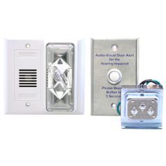 Loud Alarm/Strobe Doorbell Signaler with Button and Transformer - EMPTY DATA FOR SKU