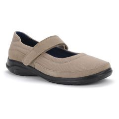 Oasis Women's Mary Jane Taupe Diabetic Shoe