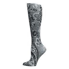 New Black Paisley Fashion Knee High Socks