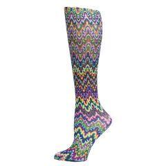 Blue Fleur Missoni Fashion Line Compression Socks