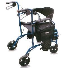 Excel Translator Rollator and Wheelchair Combo - Cobalt Blue