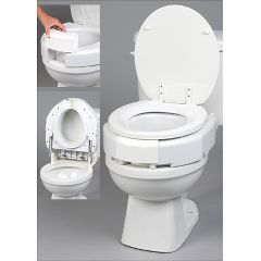 Ableware Secure-Bolt Hinged Elevated Toilet Seat
