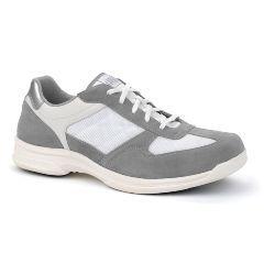 Oasis Men's  George Diabetic White/Gray Shoe