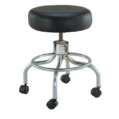 Revolving Adjustable Height Stool with Round Footrest  - Each