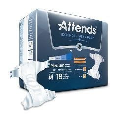 Attends Extended Wear Adult Briefs - Medium 32