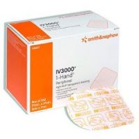 """IV3000 1-Hand Delivery Catheter Dressing - 4"""" x 4 3/4"""" - Central"""