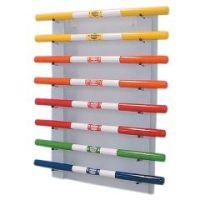 Cando Weight Bar - 8-Bar Horizontal Wall Rack - Cando Weight Bar - 8-Bar Horizontal Wall Rack