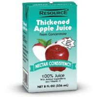 RESOURCE® THICKENED JUICES - Apple Juice - Nectar Consistency - Case of 27