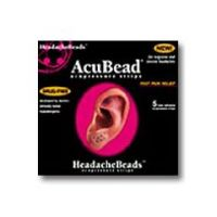 AcuBead HeadacheBeads - Acupressure Strips - Pack of 5