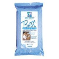 Comfort Bath Cleansing Washcloths - 8 Wipes per Pack