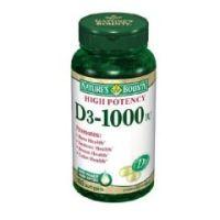 Nature's Bounty® Vitamin D 1000 IU Strength Softgel 100 per Bottle - Vitamin D 1000 IU - Bottle of 100