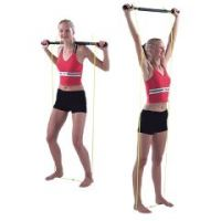 Padded Exercise Bar With Tubing - Unweighted - Padded Exercise Bar With Tubing - Unweighted