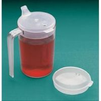 Clear Cup With Two Lids  - Each