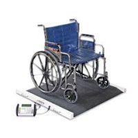 Detecto Bariatric / Wheelchair Scale - 1100 Lb. X .5 Lb. - 49 X 45 X 8 Inch Footprint - Detecto Bariatric / Wheelchair Scale - 1100 Lb. X .5 Lb. - 49 X 45 X 8 Inch Footprint