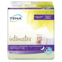 TENA Overnight Adult Heavy Absorbent Underwear, X-Large, White